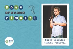 Un'altra politica esiste già. Incontro con Marco Boschini ed i Comuni Virtuosi – Dove eravamo rimasti #1
