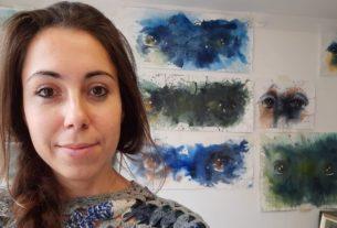 Irene, la pittrice che dipinge gli sguardi delle donne vittime di violenza