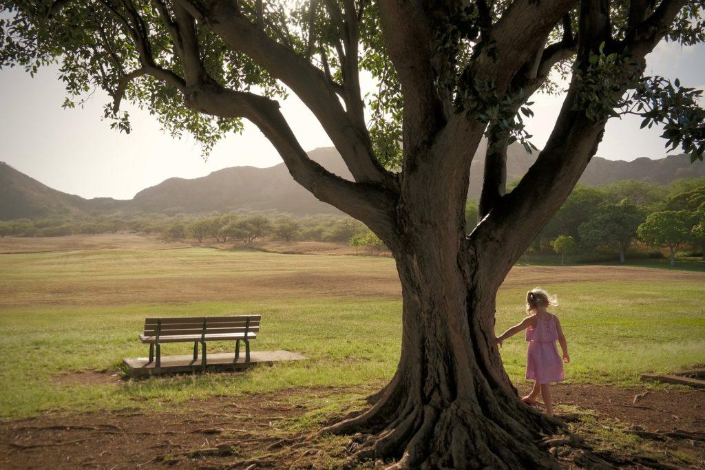 bambina natura