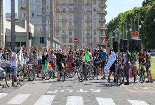 In bici da Torino a Milano: la carovana di Extinction Rebellion verso la preCOP26