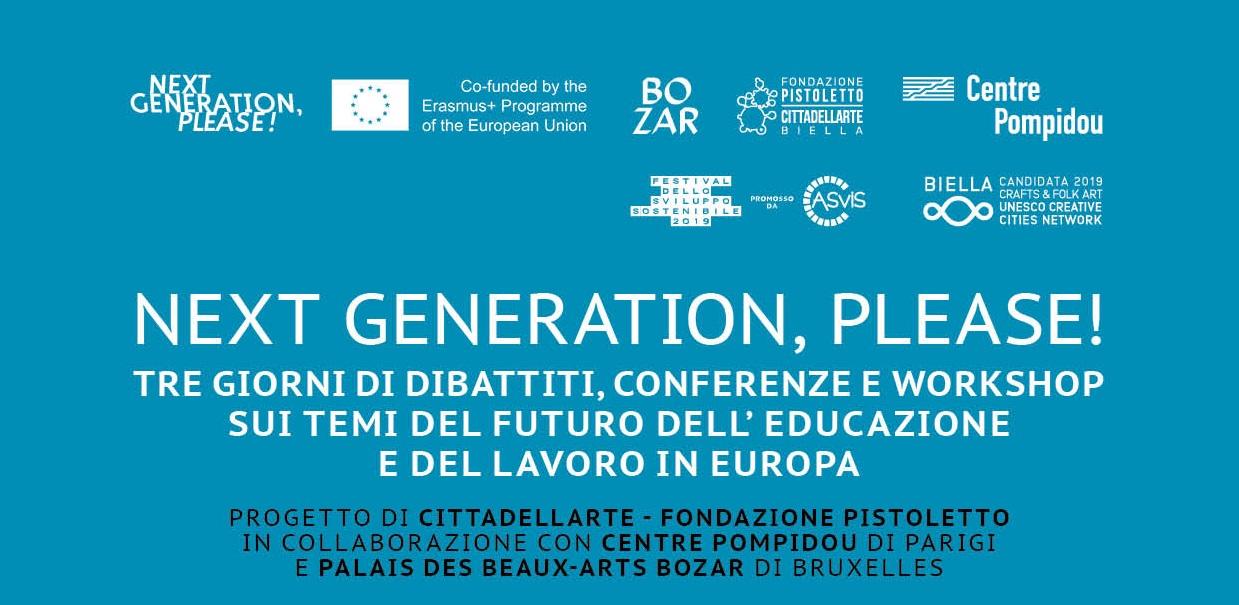 next generation please tre giorni futuro educazione lavoro Europa 1558567808