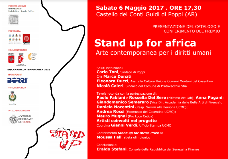 stand up for africa presentazione catalogo poppi 1493802722